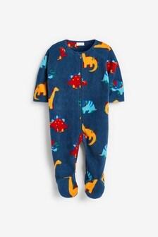 Bright Dinosaur Fleece Sleepsuit (0mths-3yrs)