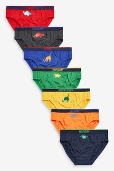 Multi 7 Pack Dino Days Of The Week Briefs (1.5-10yrs)