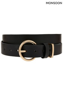 Monsoon Round Buckle Leather Belt