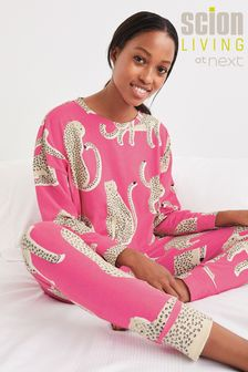 Scion at Next Pink Lionel Cotton Pyjamas