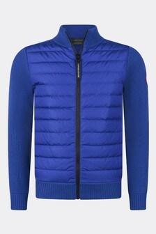Boys Blue Youth Hybridge Knit Jacket