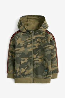 Camouflage Zip Through Hoody (3-16yrs)