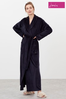 Joules Blue Sara Longline Dressing Gown