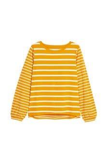 Ochre Stripe Long Sleeve T-Shirt