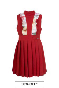 Jessie And James Girls Red Amelia Dress