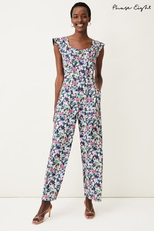 Phase Eight Multi Arya Floral Frill Jumpsuit