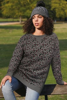 Charcoal Animal Longline Sweatshirt