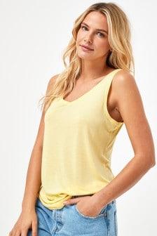 Lemon Yellow Slouch Vest