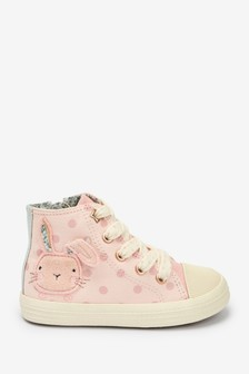 Pink Bunny High Top Trainers