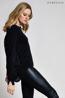 Harpenne Black Lace Back Jumper