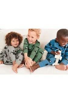 Multi 3 Pack Stampy Transport Pyjamas (9mths-8yrs)
