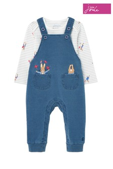 Joules Blue Peter Rabbit Wilbur Denim Dungaree Set