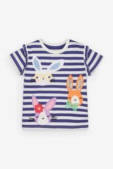 Blue Stripe Bunny T-Shirt (3mths-7yrs)
