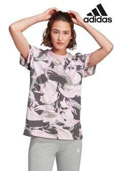 adidas Essentials Pink Camo T-Shirt
