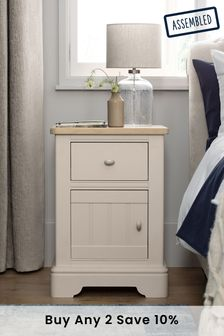 Stone Hampton Storage 1 Drawer Bedside Table