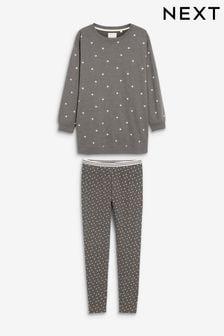 Grey Stars Legging Pyjamas