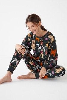 Green Dogs Cosy Supersoft Pyjama Set