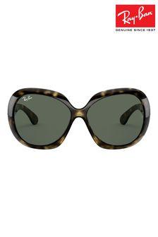 Ray-Ban® Tortoiseshell Jackie Ohh II Oversized Sunglasses