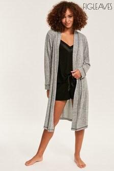 Figleaves Grey Super Soft Lounge Robe