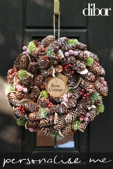 Personalised Stars & Baubles Wreath by Dibor