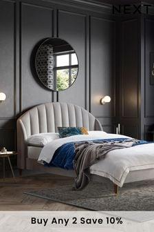 Opulent Velvet Light Grey Stella Bed