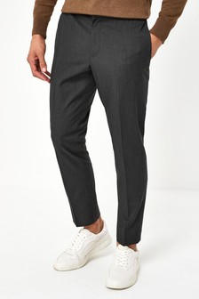 Charcoal Slim Tapered Formal Joggers