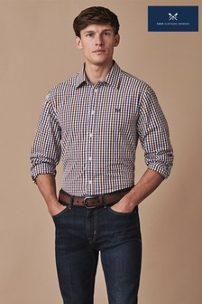 Crew Clothing Red Long Sleeve Classic Multi Gingham Shirt
