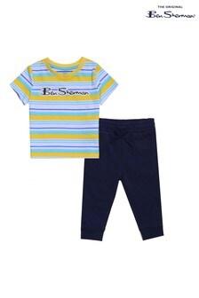 Ben Sherman® Yellow Stripe T-Shirt And Joggers Set