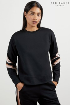 Ted Baker Jjordan Sweatshirt With Knitted Stripe