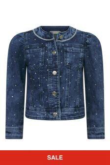 Girls Blue Cotton Denim Jacket