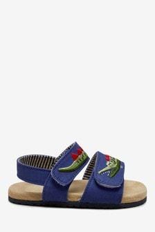Cobalt Croc Corkbed Pram Shoes (0-24mths)