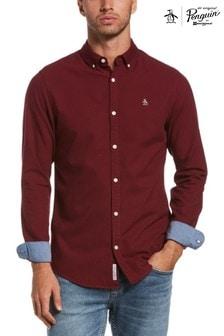 Original Penguin® Red Slim Fit Cotton Oxford Shirt