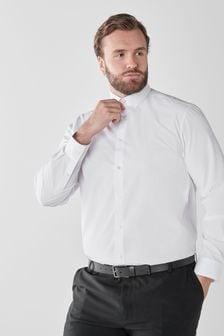 White Plus Fit Single Cuff Shirts 3 Pack