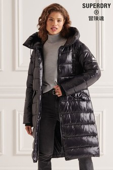 Superdry High Shine Duvet Coat