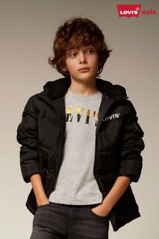 Levi's® Kids Black Logo Quilted Jacket