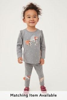 Charcoal Unicorn T-Shirt Jersey (3mths-7yrs)