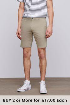 Wheat Slim Fit Stretch Chino Shorts