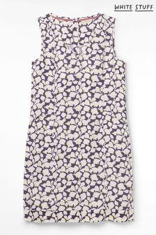 White Stuff Grey Ellinor Linen Dress