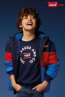 Levi's® Kids Navy Colourblock Padded Jacket