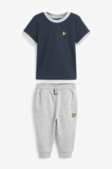 Lyle & Scott Ringer T-Shirt And Sweat Jogger Set