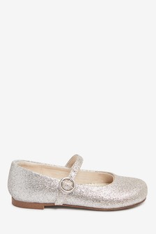 Silver/Gold Glitter Mary Jane Occasion Shoes