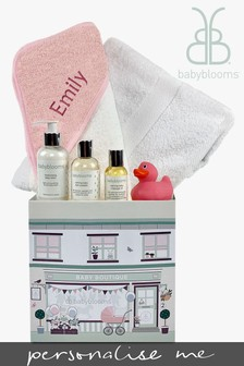 Babyblooms Personalised Pink Baby Bathtime Hamper