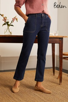 Boden Blue Cropped Utility Flare Jeans