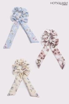 HotSquash Blue Bow Scrunchies Three Pack