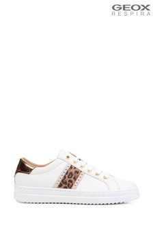 Geox Women's Pontoise White/Off White Sneakers