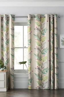 Botanical Print Eyelet Curtains