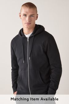 Black Zip Through Hoody Loungewear