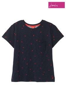 Joules Blue Sofi Print Pocket T-Shirt