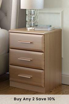 Elmsmore 3 Drawer Bedside Table