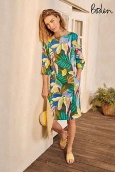 Boden Green Laurie Linen Dress